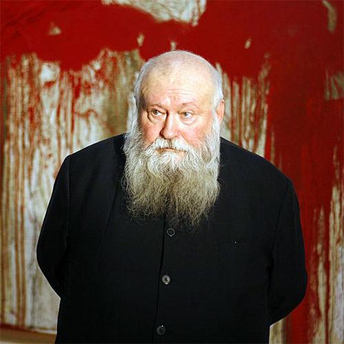 Hermann Nitsch: Babbo Natale rosso sangue